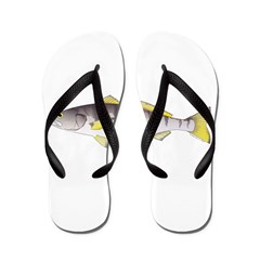 White Seabass Flip Flops