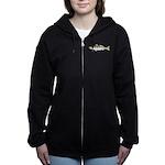 White Seabass Women's Zip Hoodie