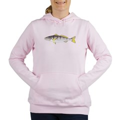 White Seabass Women's Hooded Sweatshirt