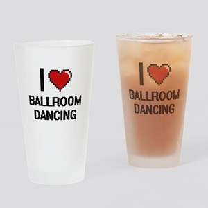 I love Ballroom Dancing digital des Drinking Glass