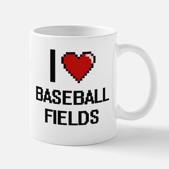 I love Baseball Fields digital design Mugs