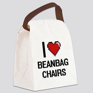 I love Beanbag Chairs digital des Canvas Lunch Bag