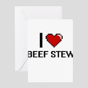 I love Beef Stew digital design Greeting Cards