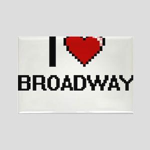 I love Broadway digital design Magnets