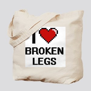 I love Broken Legs digital design Tote Bag
