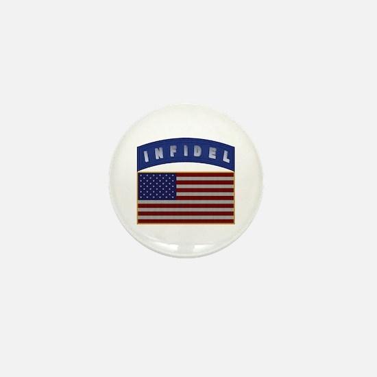 American Infidel Patch Mini Button