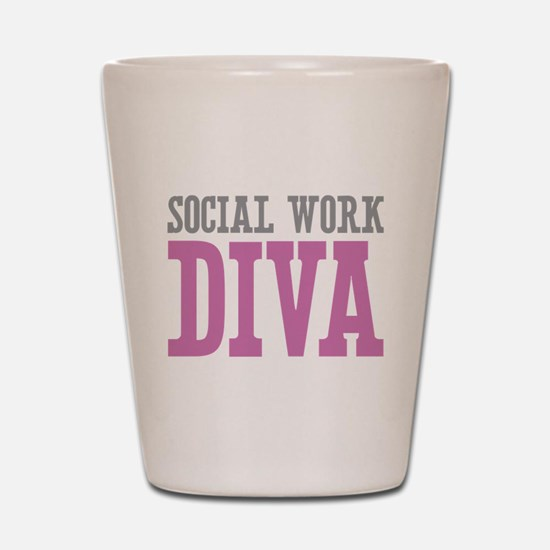 Social Work DIVA Shot Glass