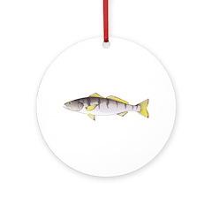 White Seabass Round Ornament