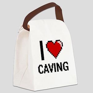 I love Caving digital design Canvas Lunch Bag