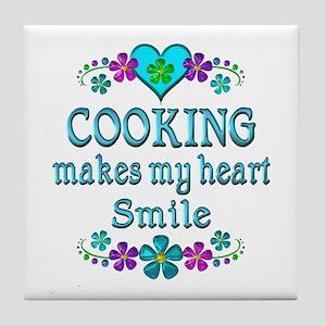 Cooking Smiles Tile Coaster