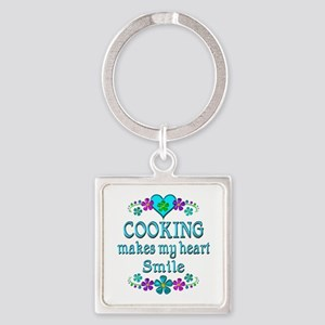 Cooking Smiles Square Keychain