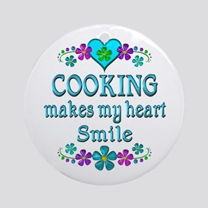 Cooking Smiles Round Ornament