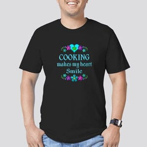 Cooking Smiles Men's Fitted T-Shirt (dark)