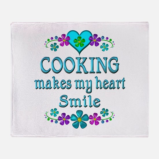 Cooking Smiles Throw Blanket