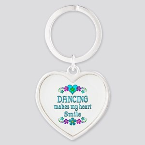 Dancing Smiles Heart Keychain