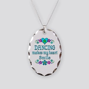 Dancing Smiles Necklace Oval Charm