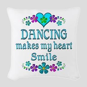 Dancing Smiles Woven Throw Pillow