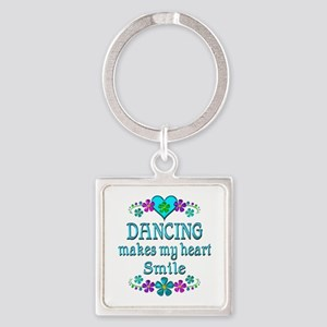 Dancing Smiles Square Keychain