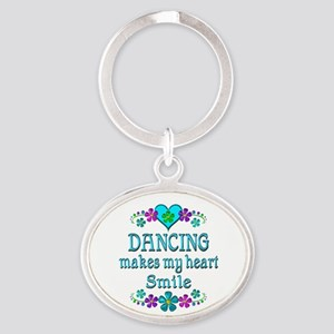 Dancing Smiles Oval Keychain