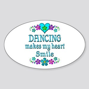 Dancing Smiles Sticker (Oval)