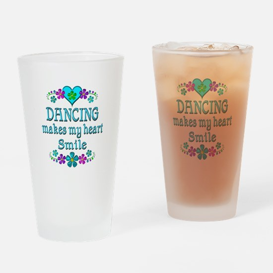 Dancing Smiles Drinking Glass