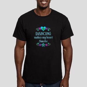 Dancing Smiles Men's Fitted T-Shirt (dark)
