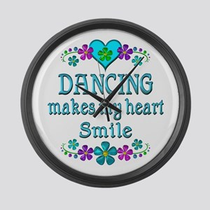 Dancing Smiles Large Wall Clock