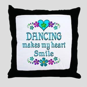 Dancing Smiles Throw Pillow