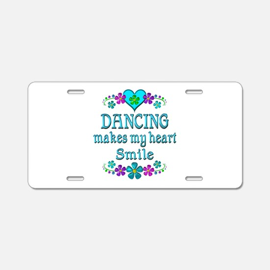 Dancing Smiles Aluminum License Plate