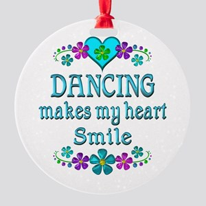 Dancing Smiles Round Ornament