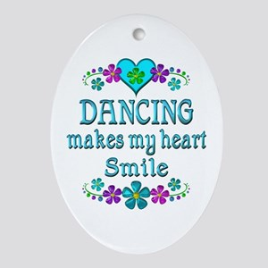 Dancing Smiles Oval Ornament
