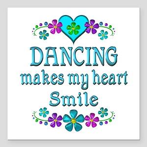 "Dancing Smiles Square Car Magnet 3"" x 3"""