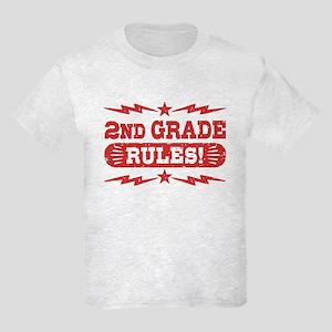 2nd Grade Rules Kids Light T-Shirt