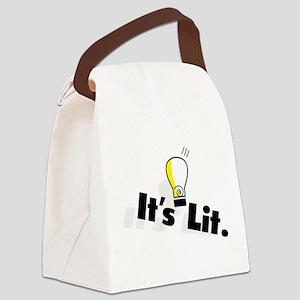 It's Lit Canvas Lunch Bag