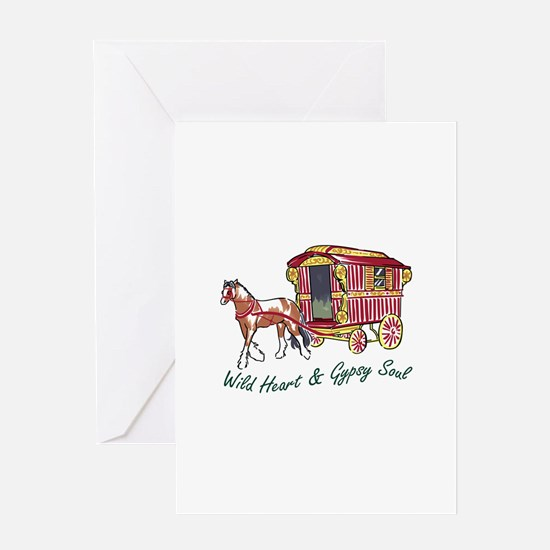 WILD HEART GYPSY SOUL Greeting Cards