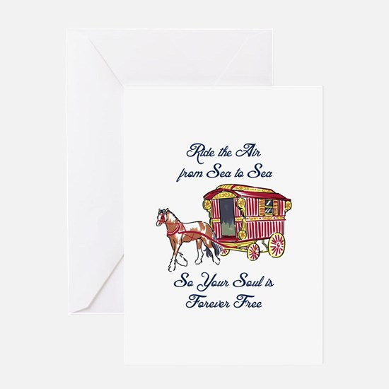 GYPSY SOUL FOREVER FREE Greeting Cards