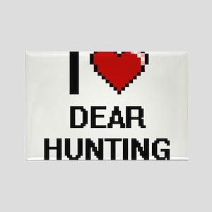 I love Dear Hunting digital design Magnets