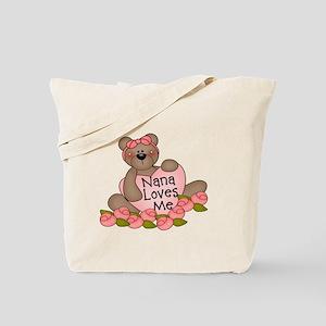 Nana Loves Me CUTE Bear Tote Bag