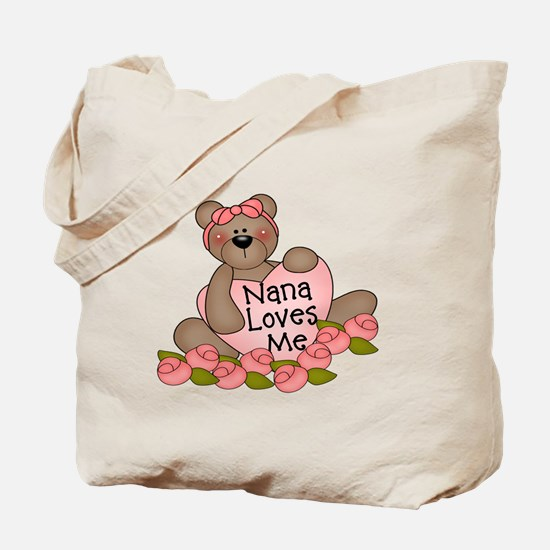 Nana Loves Me CUTE Bear Tote Bag