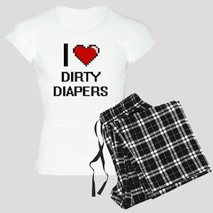 I love Dirty Diapers digita Women's Light Pajamas