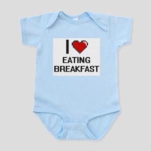 I love Eating Breakfast digital design Body Suit