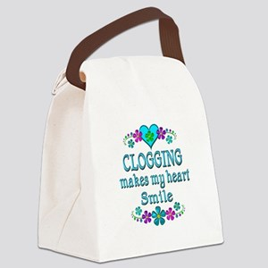 Clogging Smiles Canvas Lunch Bag