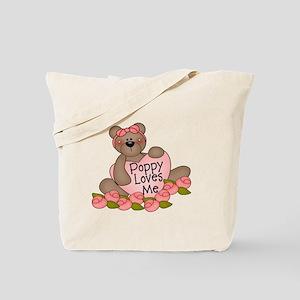 Poppy Loves Me CUTE Bear Tote Bag