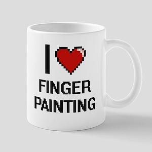 I love Finger Painting digital design Mugs