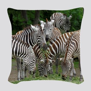 Zebra010 Woven Throw Pillow