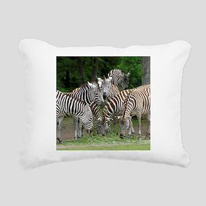 Zebra010 Rectangular Canvas Pillow