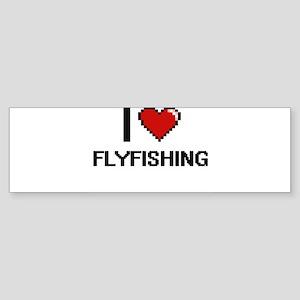 I love Flyfishing digital design Bumper Sticker