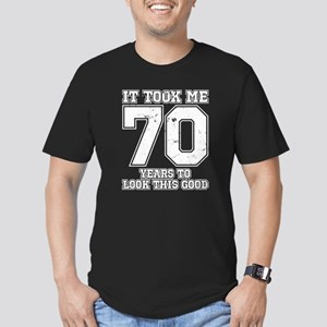 This Is What 70 And Aw Men's Fitted T-Shirt (dark)