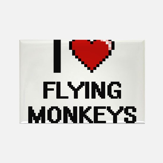 I love Flying Monkeys digital design Magnets