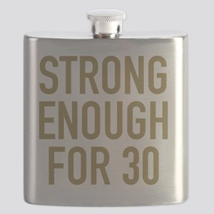 Strong 30th Birthday Flask